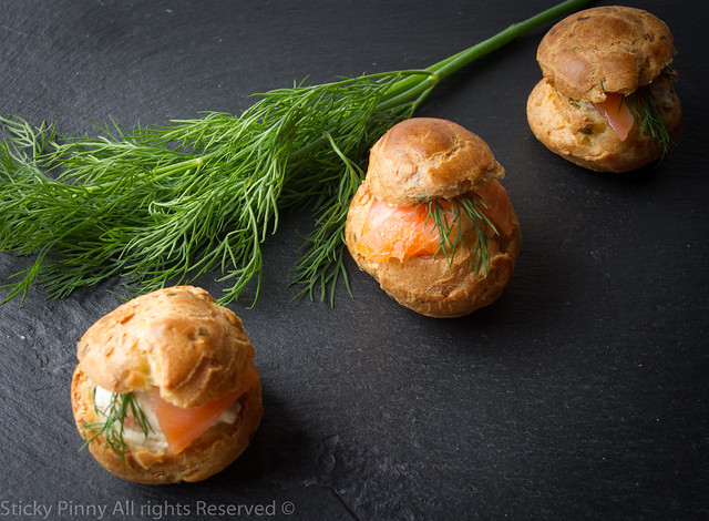 Sticky Pinny Smoked Salmon Choux Buns 2