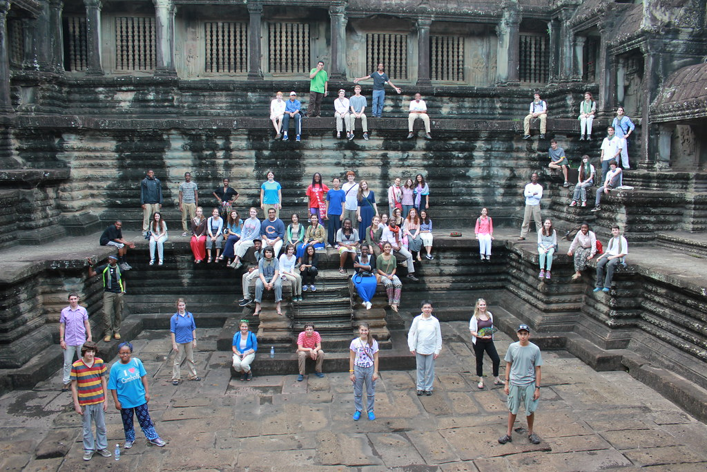 Boston Children's Chorus at Angkor Wat in Cambodia