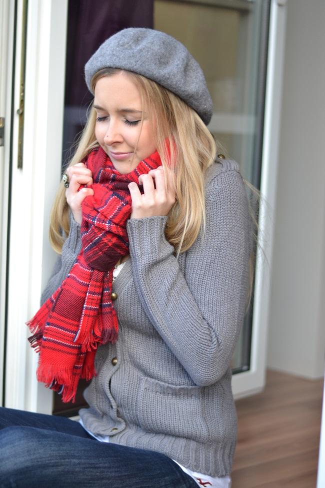 Outfit Schal H&M Tartan (3)