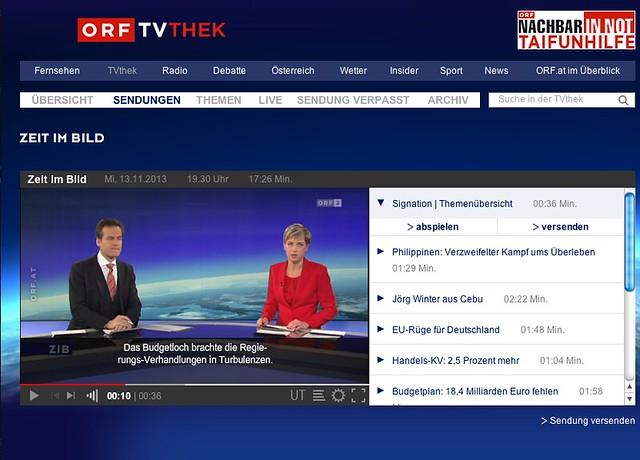 Untertitel auf der TV-Thek des ORF sind sehr klein