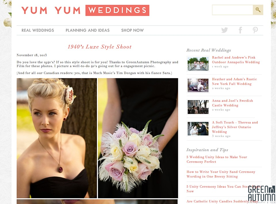 yum yum weddings feature publication creative