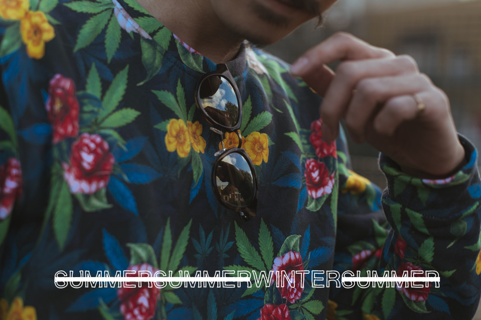 Mr Boy Style Blogger Blog Personal Menswear Fashion Hong Kong London Chinese Asian Moustache breaking rocks streetwear analog maui jim eyewear sunglasses sweater printflorals