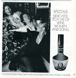 1971 Bacchus Cologne Advertising Playboy June 1971