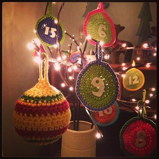 Finished bauble in the twigs #crochet