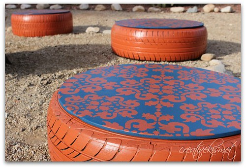 tire stools for the fire pit regina lord of creative kismet. Black Bedroom Furniture Sets. Home Design Ideas