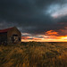 Sunset at the barn by TomNC