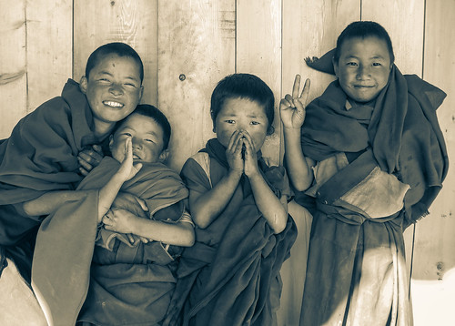 Young monks in Litang