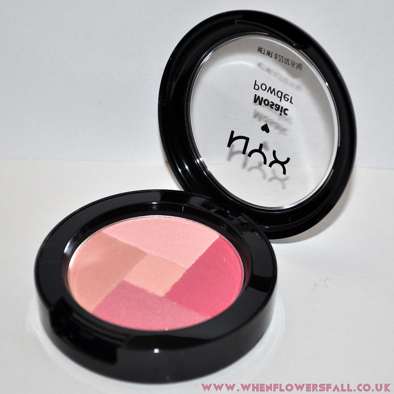 whenflowersfall, beauty, nyx, mosaic powder, blush, review,