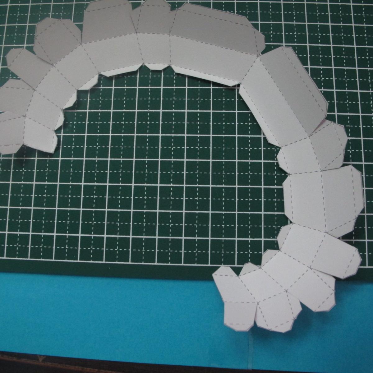 วิธีทำของเล่นโมเดลกระดาษรูปหัวใจ 008