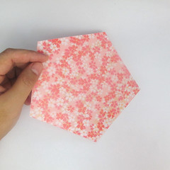 สอนวิธีการพับกระดาษเป็นดอกมะเฟือง (Origami Carambola) 001