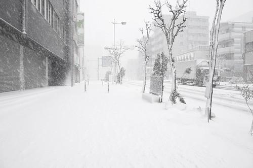 heavy snowstorm at Chiba 01