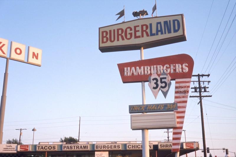 Burgerland, 1120 S. Harbor Blvd, Anaheim, 1974