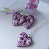Vintage Floral Heart Jewellery