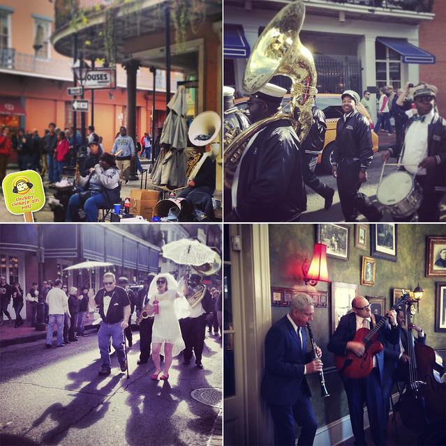 New Orleans - street musicians - jazz brunch