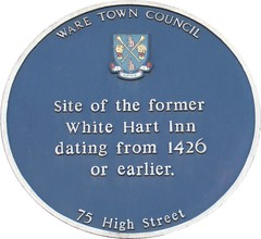 Photo of White Hart Inn, Ware blue plaque