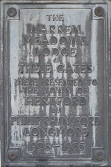 Photo of Grey plaque number 30586