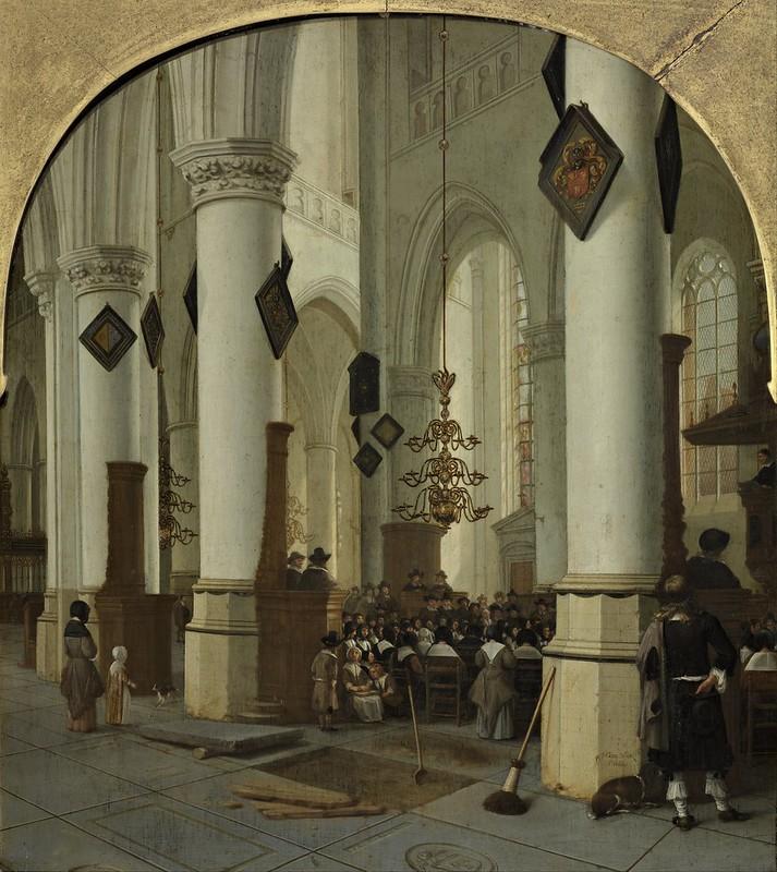 Hendrik Cornelisz. van Vliet - View inside the Saint Bavo Church in Haarlem During Mass (1666)