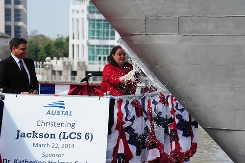 MOBILE, Ala. - Austal christened the future USS Jackson (LCS 6) at its state-of-the-art shipyard in Mobile, Ala.