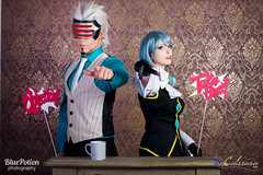 Frankziska von Karma / Mei Karuma and Godot (Phoenix Right - Ace Attorney)