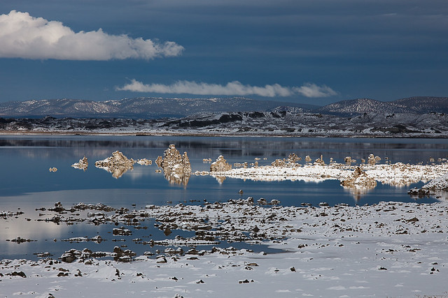 Snowy Day at Mono Lake