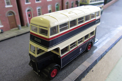 A Guy double decker in Ashton-under-Lyne Corporation's 1940s - 1950s livery.