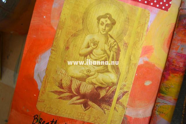 Buddha image in yellow