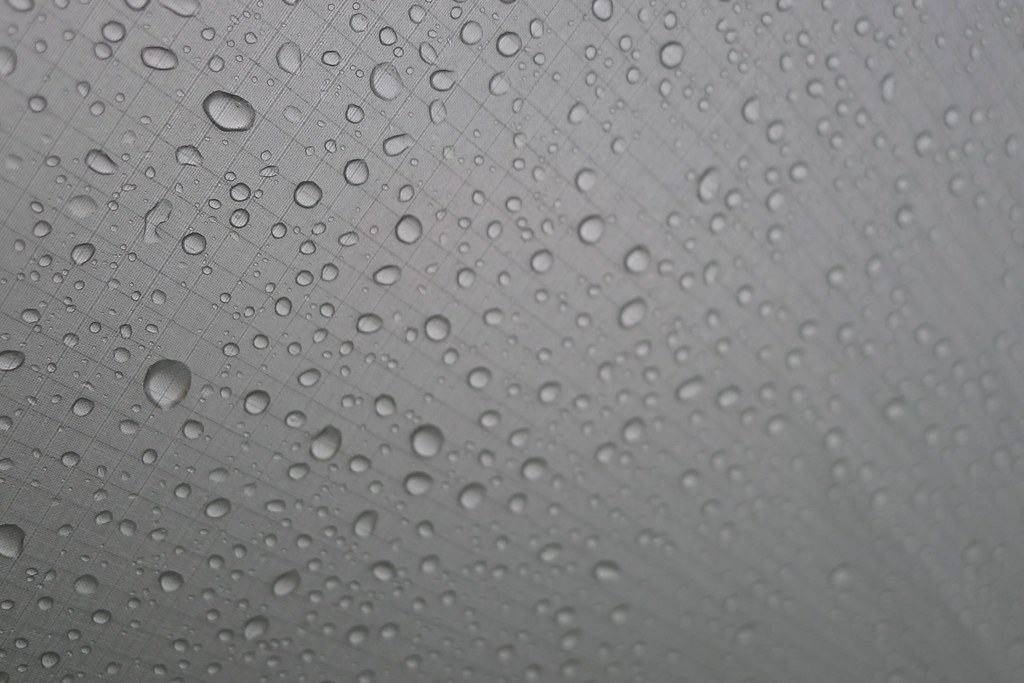 Raindrops on the tent