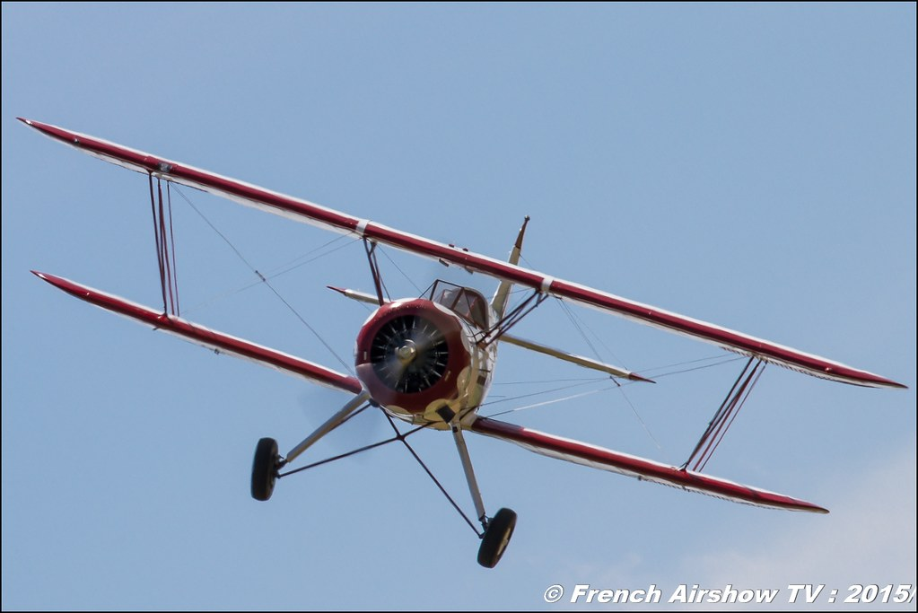 Waco UPF ,7 F-AZJC,Fly'in Saint-Yan 2015,Fly in LFBK 2015, Meeting Aerien 2015