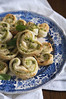 palmier with basil-feta filling