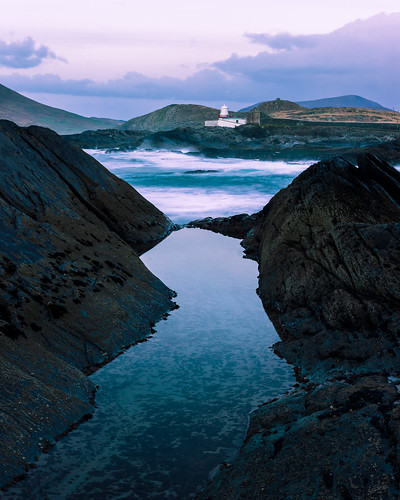 wild atlantic way coast ireland kerry twilight sunset evening dark moody