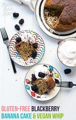 Gluten-free Blackberry Banana Cake with Vegan Whip
