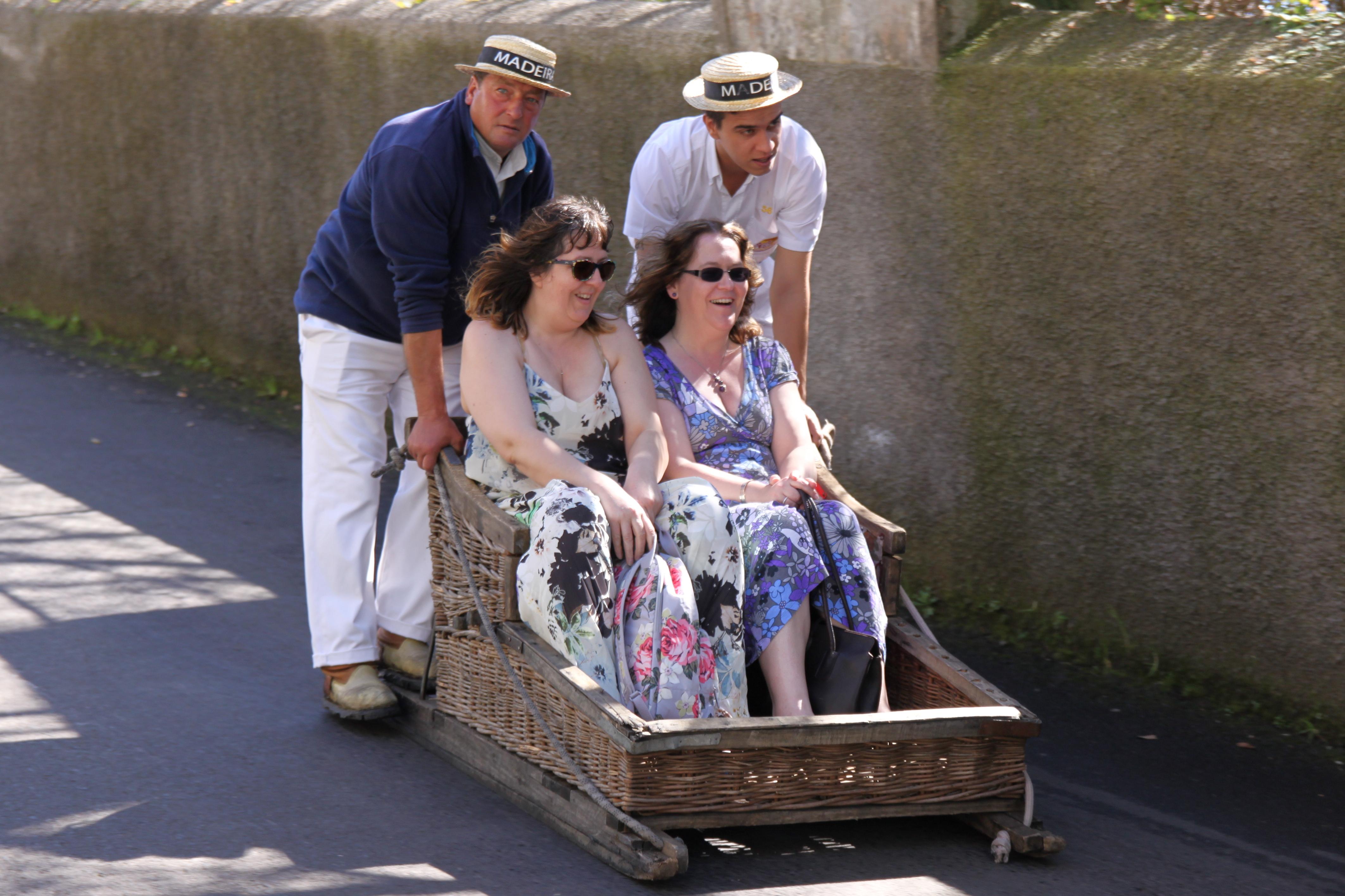 Madeira - Monte toboggan ride