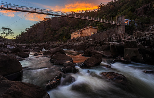 southesk hydroelectric 1740 powerstation sunset canon1740 dslr water 1740l canon1740l outdoor canon evening 6d dusk canon6d southeskriver clouds building landscape autumn river cloud bridge suspensionbridge cataractgorge launceston tasmania duckreach gorge rock trevallyn australia au