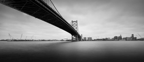 benfranklinbridge urban bridge racestpier city delawareave longexposure philadelphia monochrome pennsylvania unitedstates us philly nikon d800e landscape