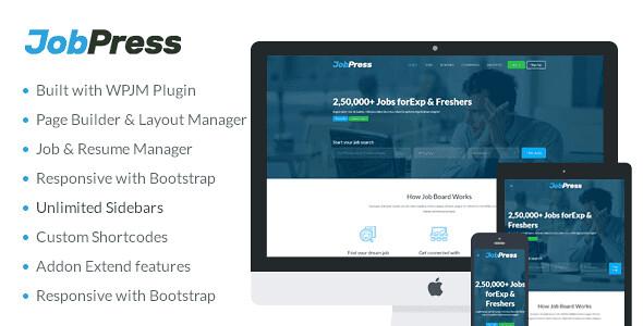 JobPress WordPress Theme free download