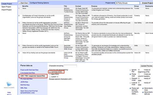 openrefine csv import config