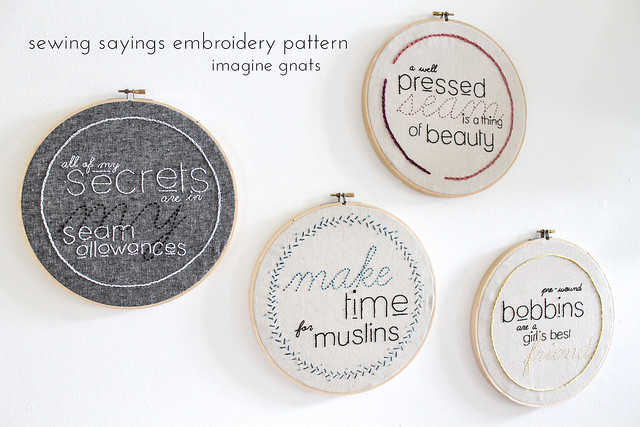 sewing sayings embroidery pattern