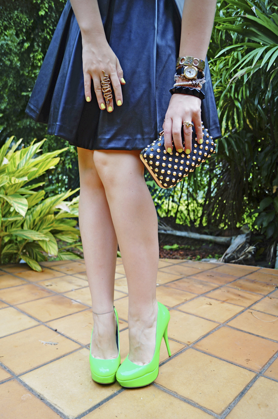 Black with a Pop of Neon outfit