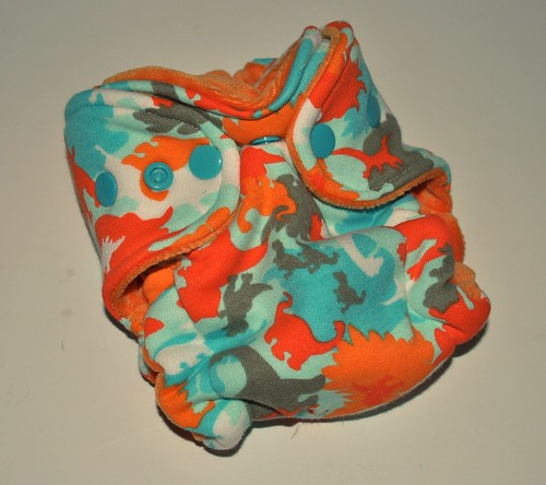 Bumstoppers Newborn Camo Dinos Hybrid Fitted **New Style**