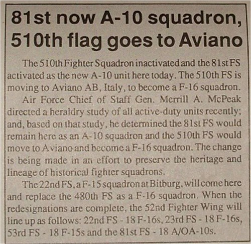 510th moves to Aviano