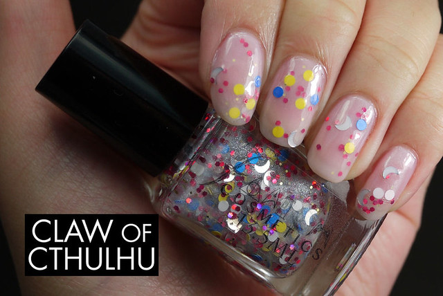 Fandom Cosmetics Usagi Tsukino Swatch (jelly sandwiched with OPI In The Spot-Light Pink)