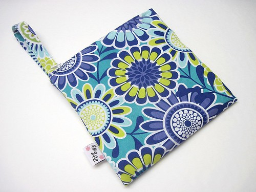 Blue Flowers Mama Wet Bag New Style