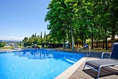 La piscina és un element molt valorat pels visitants de Ca l'Estamenya a l'estiu.