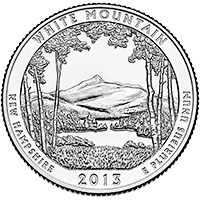 25 Centov USA 2012D, White Mountains