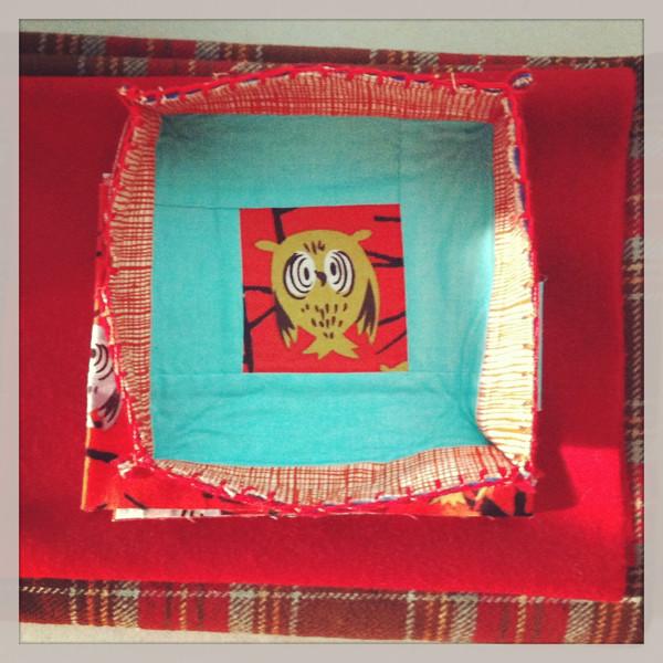little owl patchwork bowl