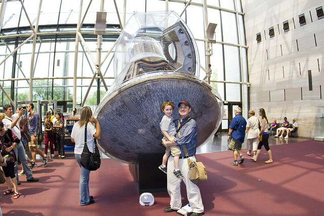 With one of the Mercury capsules