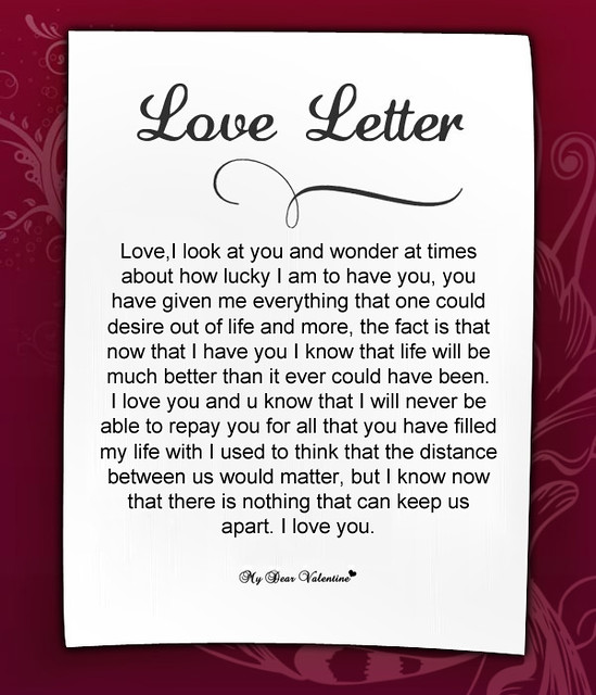 Romantic love letters to her 6 flickr photo sharing