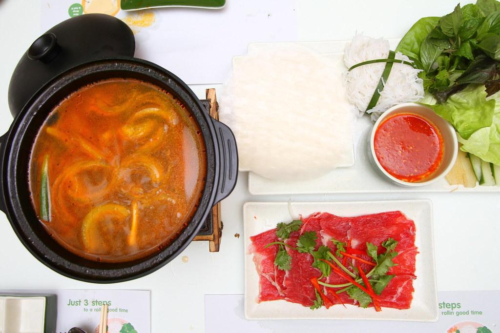 Wrap & Roll: Vietnamese Beef hotpot