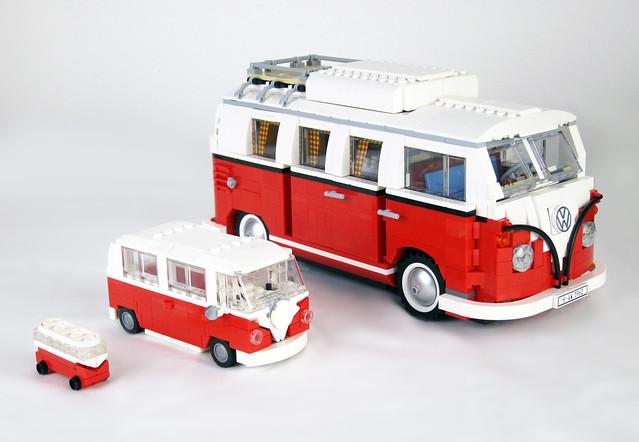 moc vw camper in minifig scale hippie version lego. Black Bedroom Furniture Sets. Home Design Ideas
