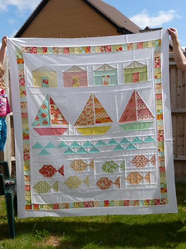 Summer beach quiilt